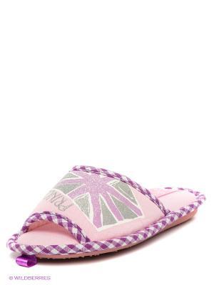 Тапочки De Fonseca. Цвет: розовый, фиолетовый