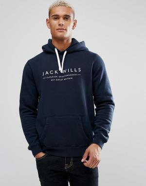 Jack Wills Худи темно-синего цвета Batsford. Цвет: темно-синий