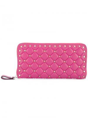 Кошелек  Garavani с заклепками Valentino. Цвет: розовый и фиолетовый