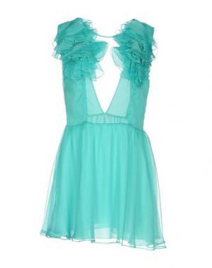 Короткое платье DANIELE CARLOTTA. Цвет: бирюзовый