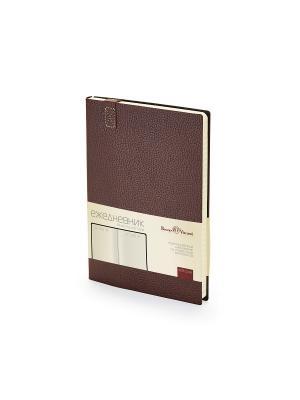 Ежедневник a5 trend (коричневый) Bruno Visconti. Цвет: коричневый