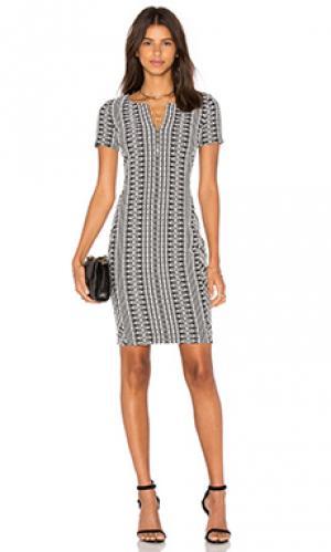 Платье dre three dots. Цвет: black & white
