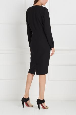 Шерстяное платье Avelon. Цвет: черный