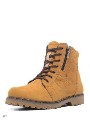 Ботинки Walrus. Цвет: желтый, рыжий