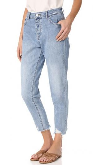Зауженные джинсы Goldie с высокой посадкой DL1961. Цвет: plunge