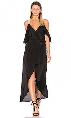 Макси платье rockefeller solid Karina Grimaldi. Цвет: черный