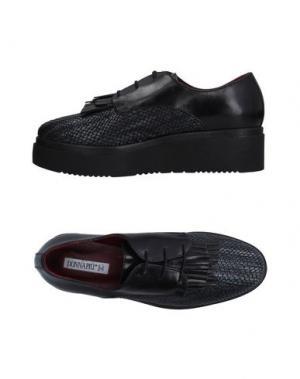 Обувь на шнурках DONNA PIÙ. Цвет: черный