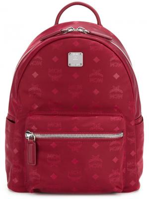 Logo printed backpack MCM. Цвет: красный