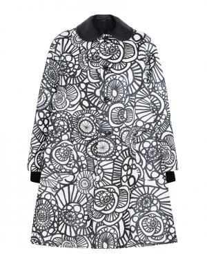 Пальто с принтом Comme des Garcons. Цвет: белый, черный