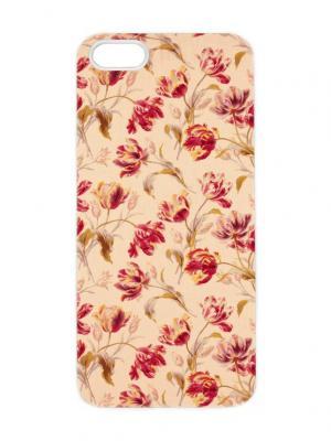 Чехол для iPhone 5/5s Оранжевые тюльпаны Арт. IP5-264 Chocopony. Цвет: белый, черный
