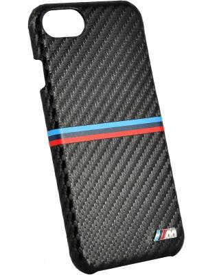 Чехол BMW для iPhone 7 M-Collection Carbon inspiration Hard PU Black. Цвет: черный