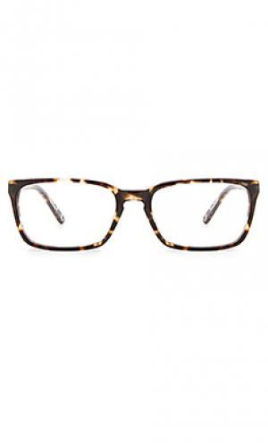 Очки simmons RAEN. Цвет: коричневый