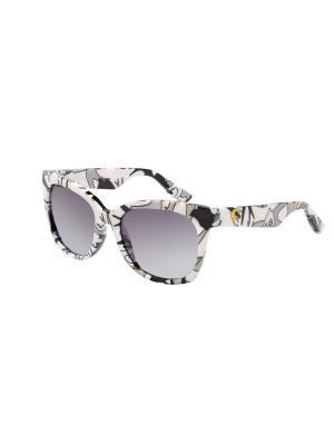 Солнцезащитные очки McQueen. Цвет: белый, серый