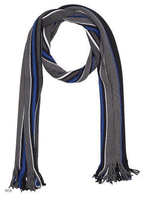 Шарф GroStyle. Цвет: черный, серый, синий