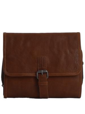 Несессер Reed Ashwood Leather. Цвет: рыжий