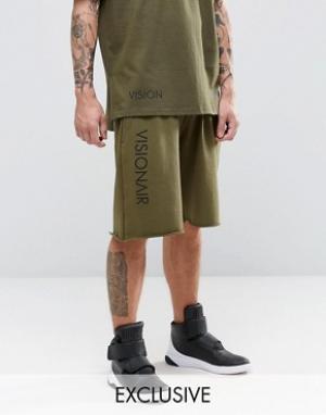 Vision Air Трикотажные шорты. Цвет: зеленый