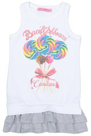 Платье Baci & Abbracci. Цвет: белый