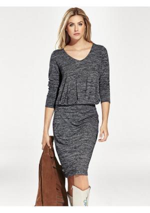 Трикотажное платье B.C. BEST CONNECTIONS. Цвет: темно-синий