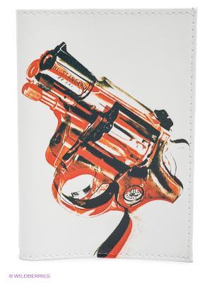 Обложка для паспорта Пистолет Mitya Veselkov. Цвет: белый, черный, красный