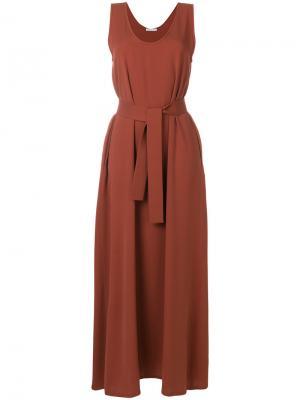 Длинное свободное платье Société Anonyme. Цвет: коричневый
