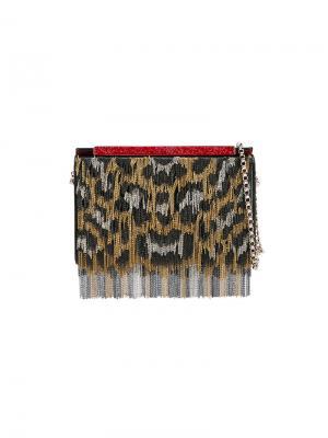 Сумка на плечо с леопардовым принтом Christian Louboutin. Цвет: чёрный