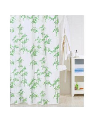 Штора для ванной IDDIS. Цвет: белый, зеленый