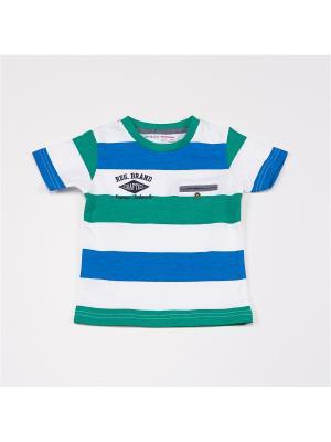 Футболка MINOTI. Цвет: зеленый, белый, бирюзовый