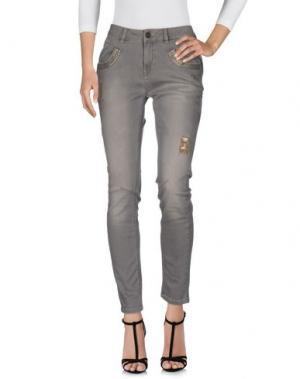 Джинсовые брюки MOS MOSH. Цвет: светло-серый
