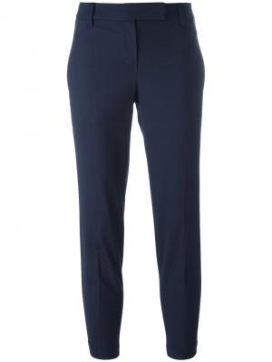 Укороченные брюки Brunello Cucinelli. Цвет: синий
