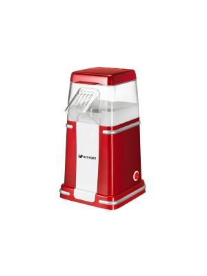 Попкорница КТ-2004 Kitfort. Цвет: красный, белый