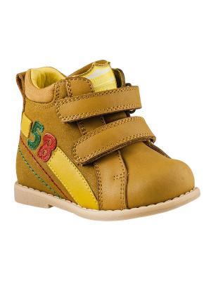 Ботинки ТОМ.М. Цвет: желтый