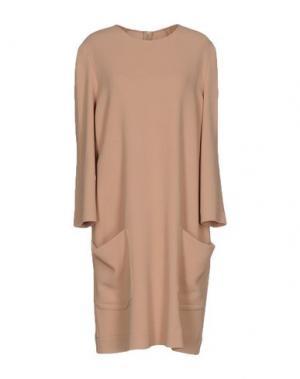 Короткое платье PHILOSOPHY DI LORENZO SERAFINI. Цвет: песочный
