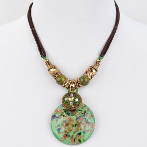 Кулон Венеция муранское стекло, арт. пд-кам2281-GWL Бусики-Колечки. Цвет: зеленый