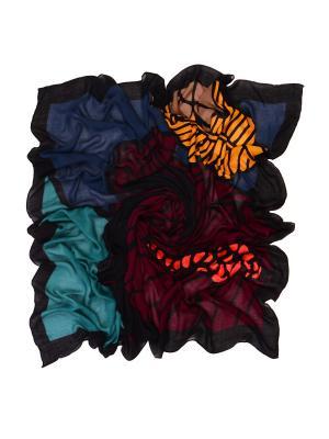 Платок LACCOM. Цвет: темно-синий, бирюзовый, бордовый