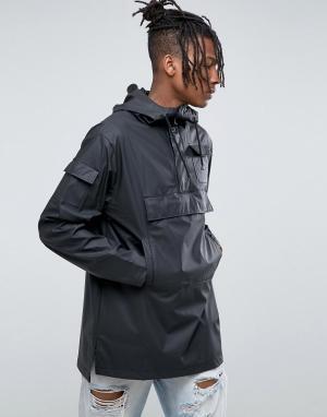 Rains Черный непромокаемый анорак. Цвет: черный