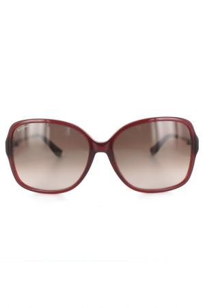 Очки солнцезащитные Salvatore Ferragamo. Цвет: винный