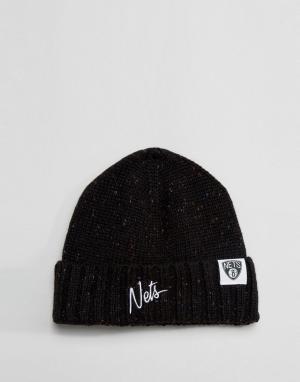 Mitchell & Ness Шапка-бини Brooklyn Nets. Цвет: черный