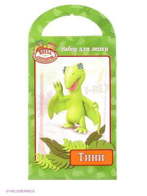 Набор для лепки  поезд динозавров сделай фигурку Тини Multiart. Цвет: зеленый