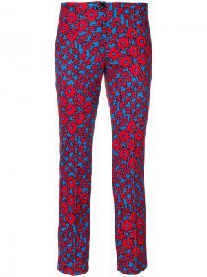 Slim-fit printed trousers Marc Cain. Цвет: красный