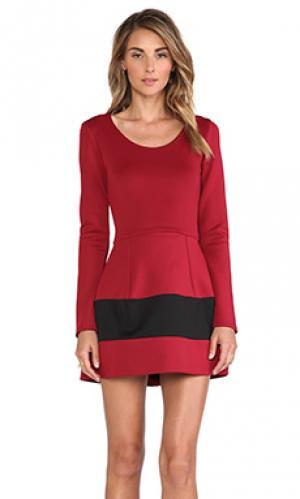Платье с длинным рукавом marilyn Boulee. Цвет: красный