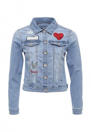 Куртка джинсовая Imocean. Цвет: голубой