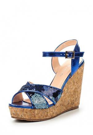 Босоножки Catisa. Цвет: синий