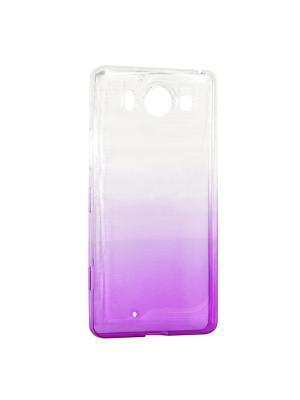 Крышка задняя для Nokia 950 Силикон IQ Format. Цвет: фиолетовый
