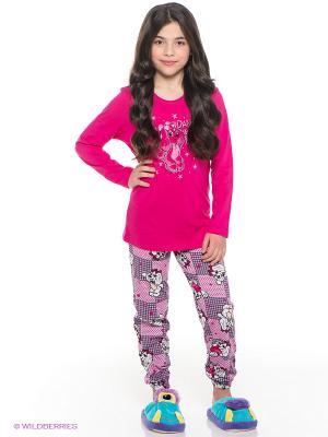 Пижама Vienetta Secret. Цвет: фуксия, розовый, серый