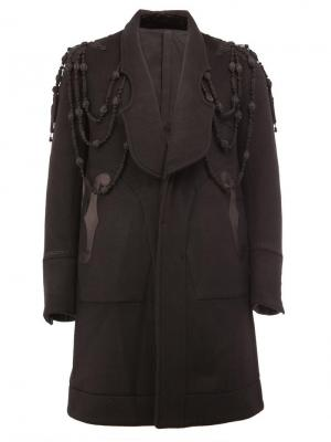 Пальто с панельным дизайном и вышивкой The Soloist. Цвет: чёрный