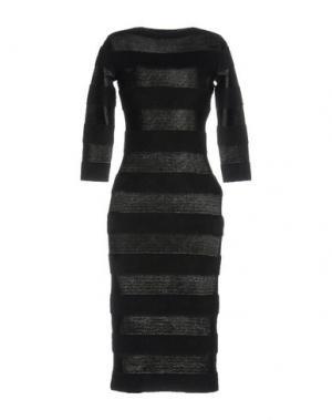 Платье до колена ANTONINO VALENTI. Цвет: черный