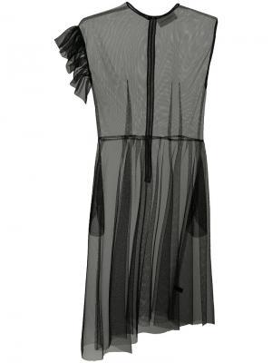 Прозрачное платье из тюля Les Animaux. Цвет: чёрный