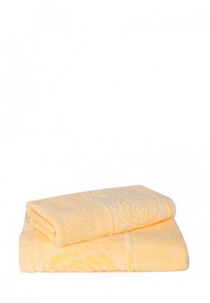 Комплект полотенец 2 шт. Bellehome. Цвет: желтый