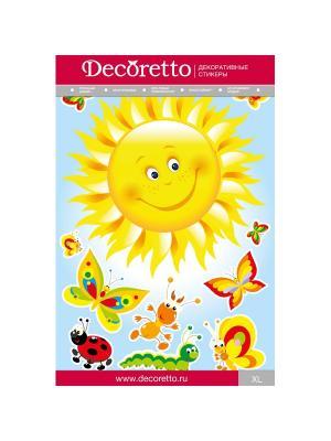 Набор наклеек Румяное солнышко DECORETTO. Цвет: желтый, черный, зеленый, красный