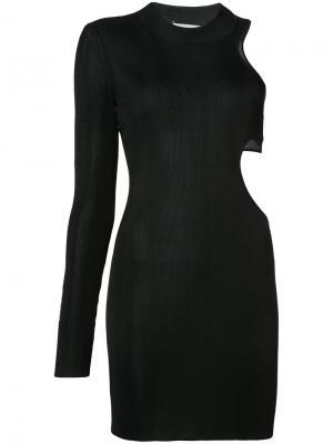 Приталенное платье с резным дизайном Beau Souci. Цвет: чёрный